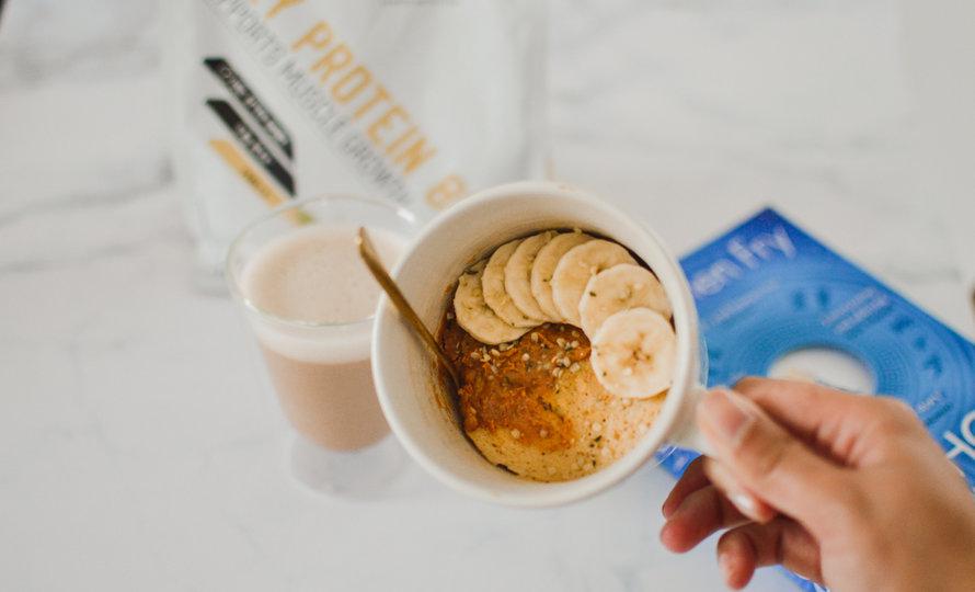 High Protein Vanilla Mug Cake