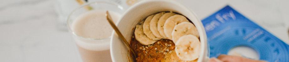 Jarra de bizcocho de proteína de vainilla