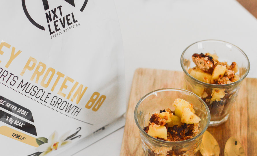 High Protein Apple Crumble