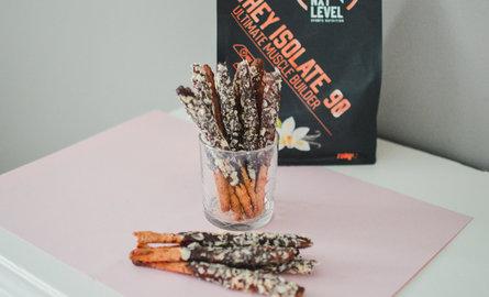 High Protein Choco Stick biscuits (aka Mikado)