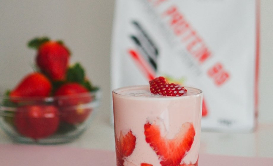 High Protein Strawberry Parfait