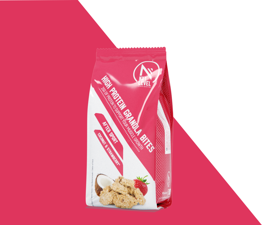 Bouchées de Granola protéiné - Coco Fraise
