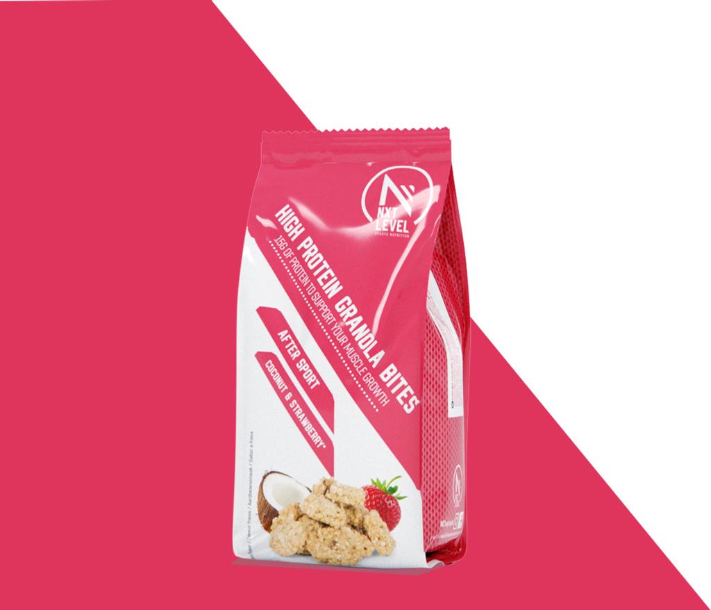 Granola Bites - Kokosnoot & aardbei