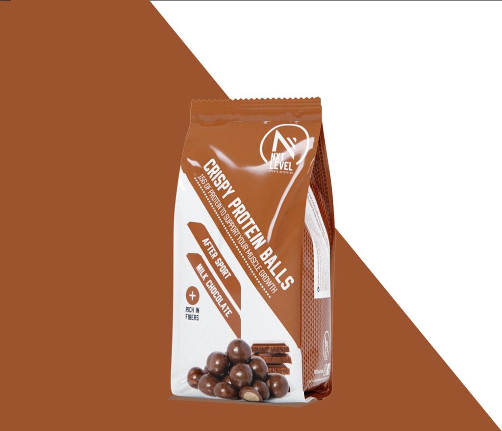 Crispy Protein Balls - Chocolate con leche