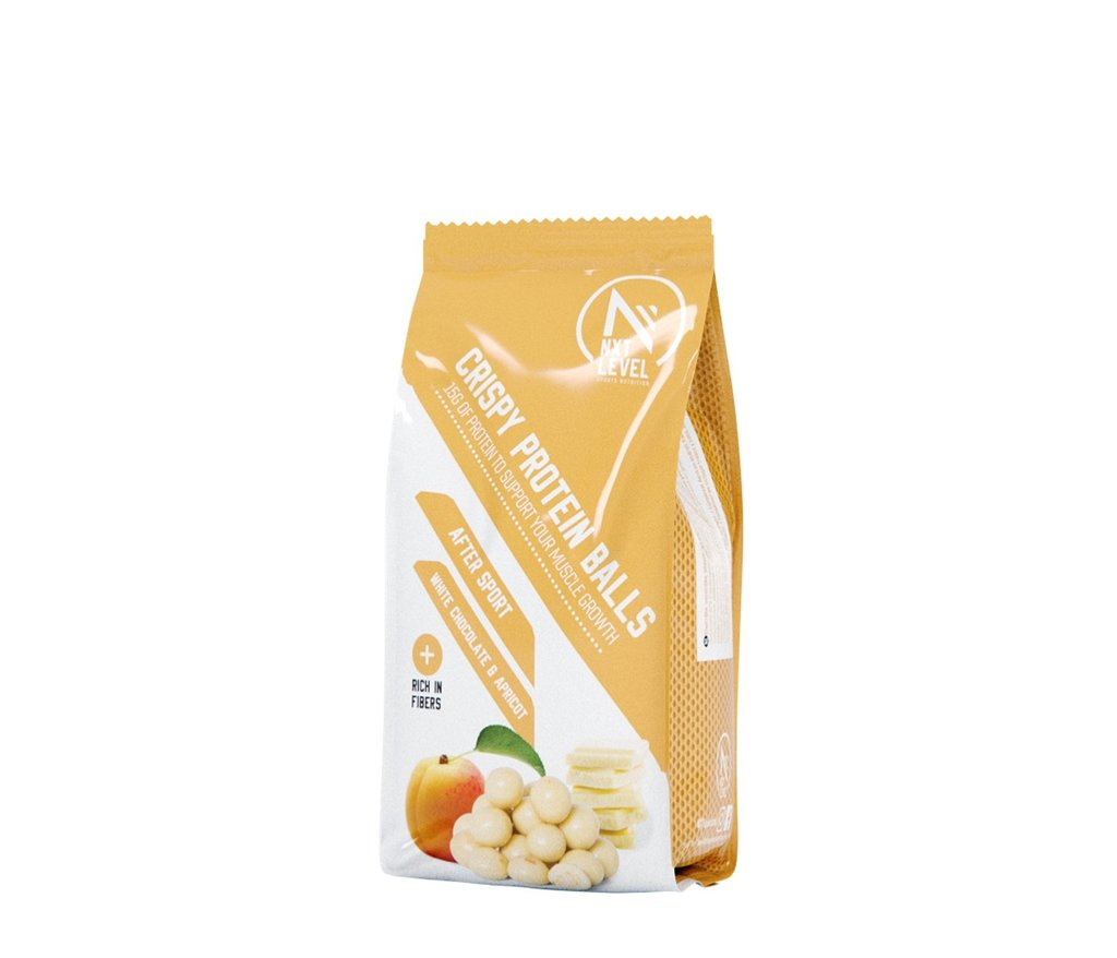 Crispy Protein Balls -Chocolate blanco y albaricoque