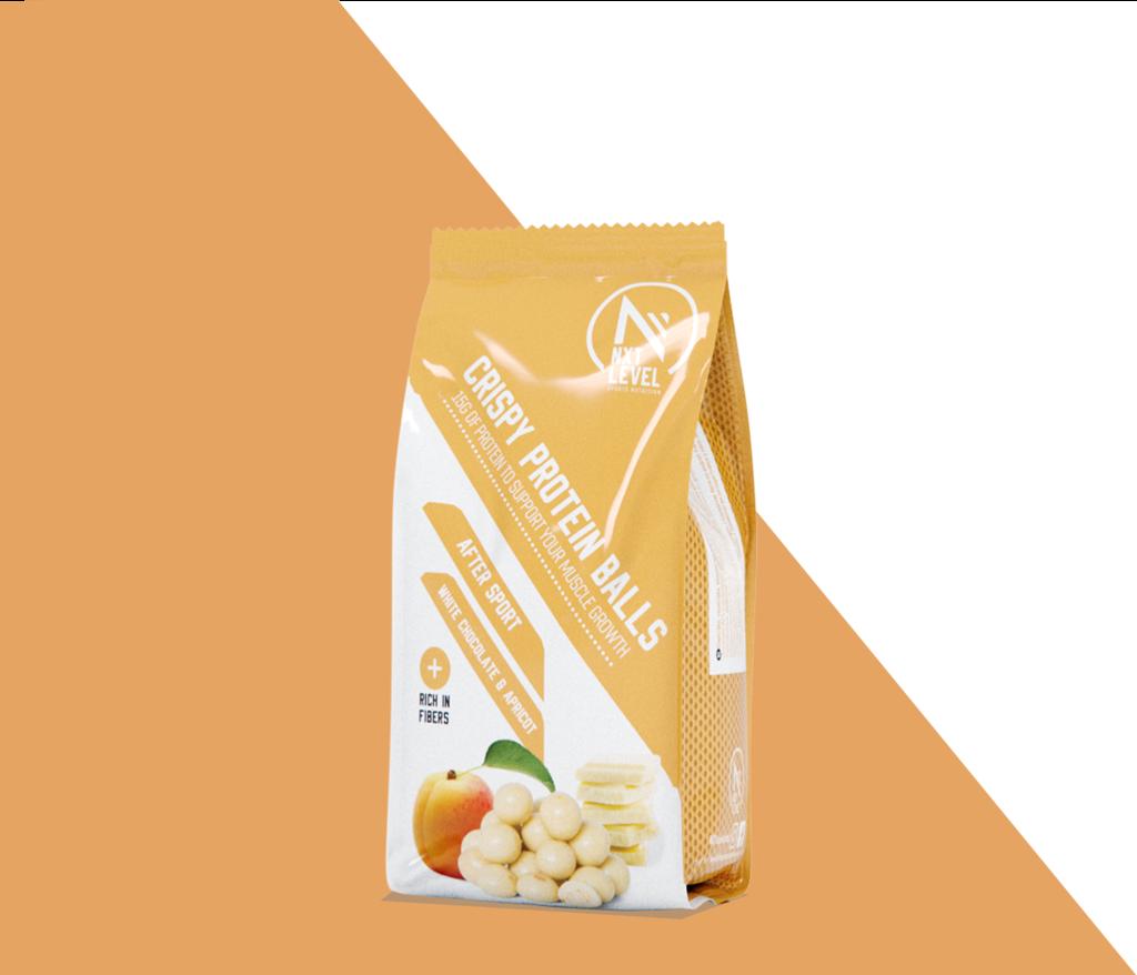 Crispy Protein Balls - White chocolate & apricot