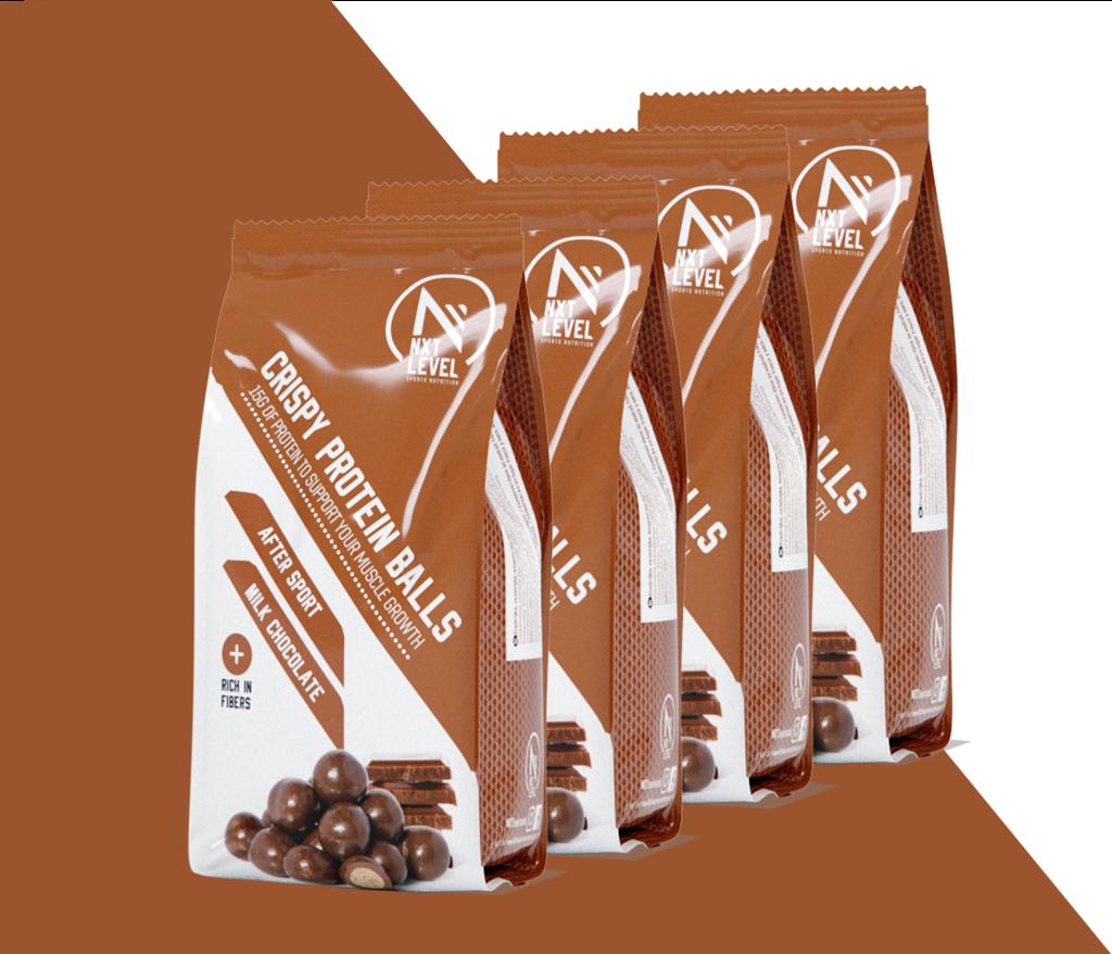 Crispy Protein Balls - Milk chocolate (4 pieces)