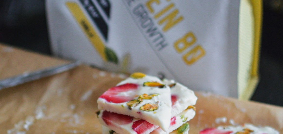 High Protein Greek yogurt bark