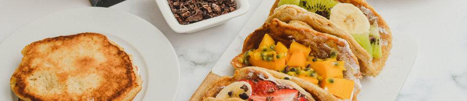 Eiwitrijke pannenkoek taco's