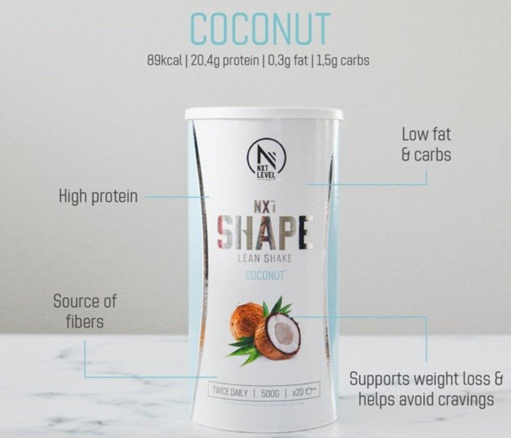NXT Shape Lean Shake - Kokos - 500g
