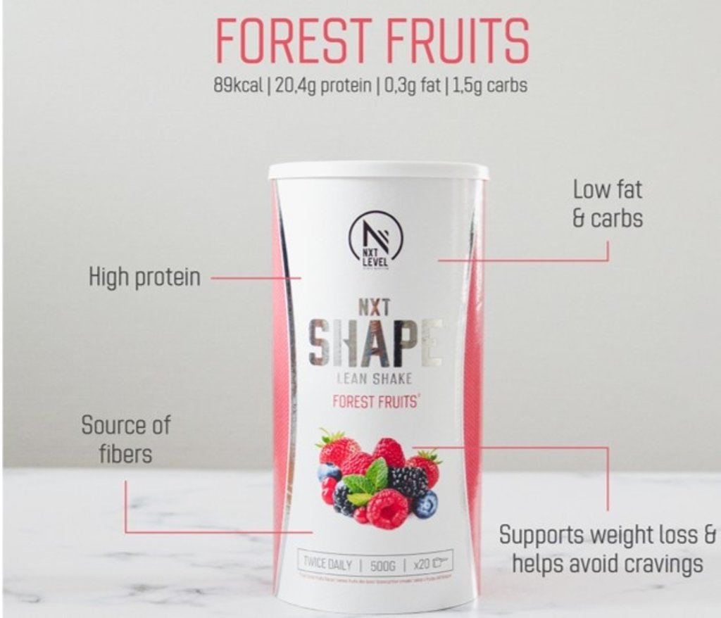 NXT Shape Lean Shake - Forest fruits - 500g