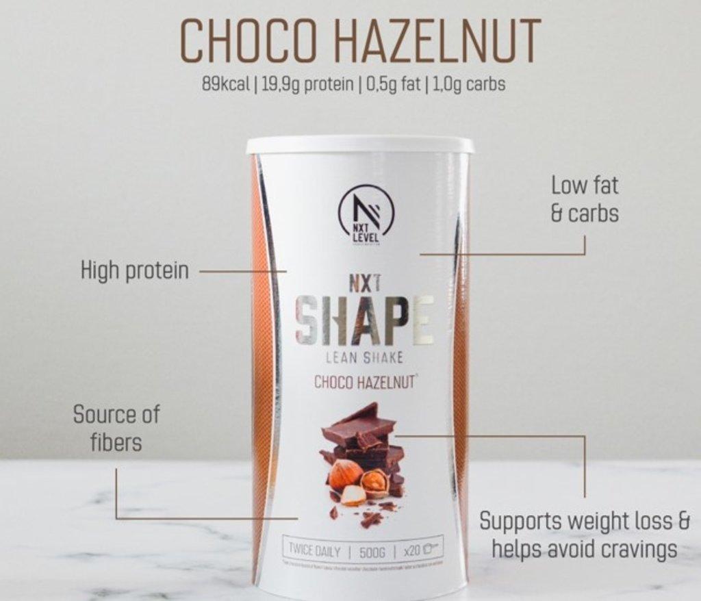 NXT Shape Lean Shake - Choco Hazelnoot - 500g