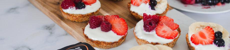 High protein fruity breakfast tarts