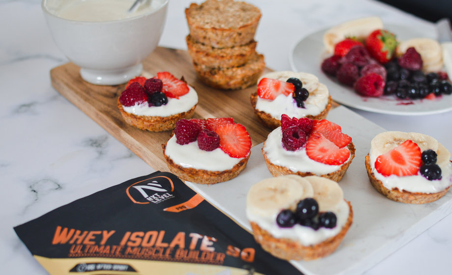 High protein fruity breakfast tarts