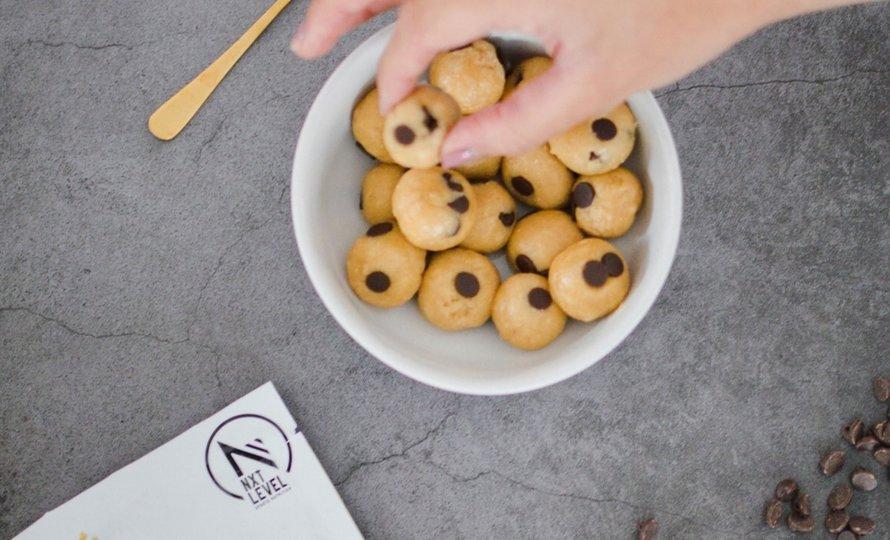 High protein edible cookie dough balls