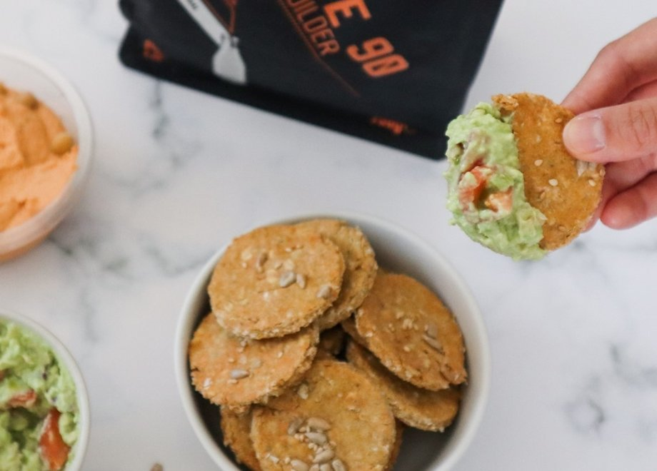 High protein oat crackers