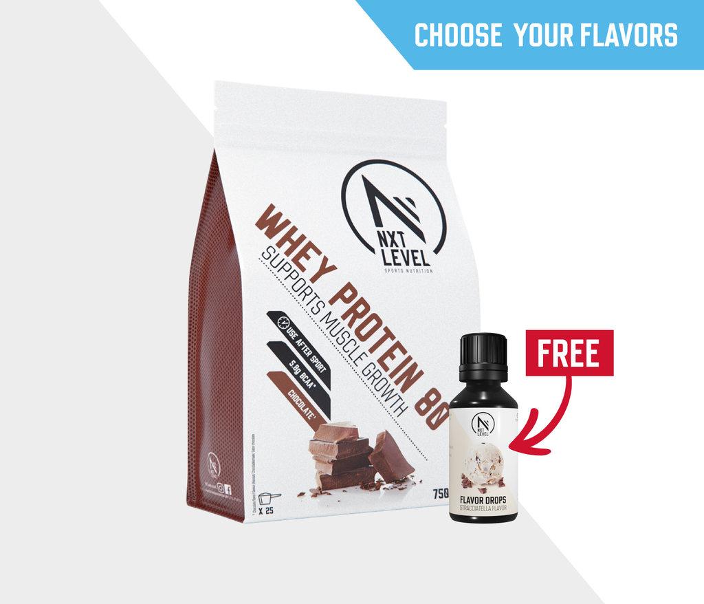 Bundle Whey 80 750g +1 flavor drops of choice