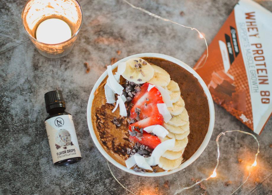Smoothie bowl au chocolat chaud