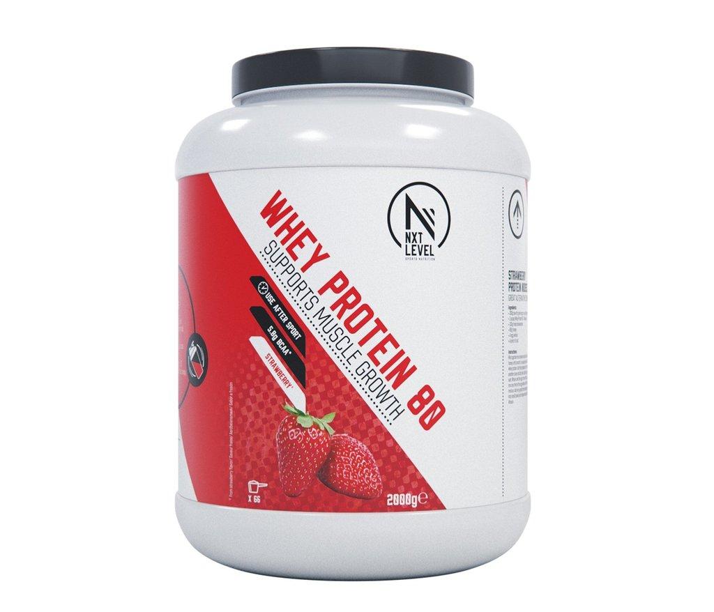 Whey Protein 80 - Aardbei - 750g_