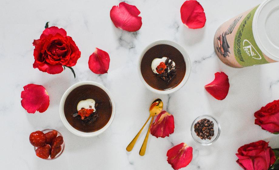 Eiwitrijk Chocolade Hazelnoot Toetje (Plantaardig)