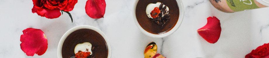 Petits pots de crème chocolat-noisette (Vegan)