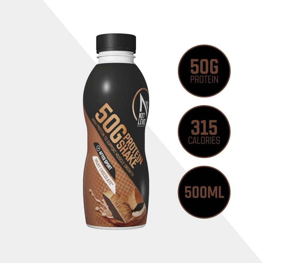 50G Protein Shake 500ml - Milky Chocolate (12 pcs)