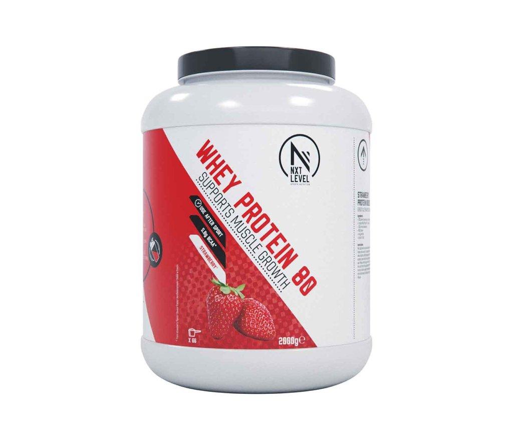 Whey Protein 80 - Aardbei - 750g