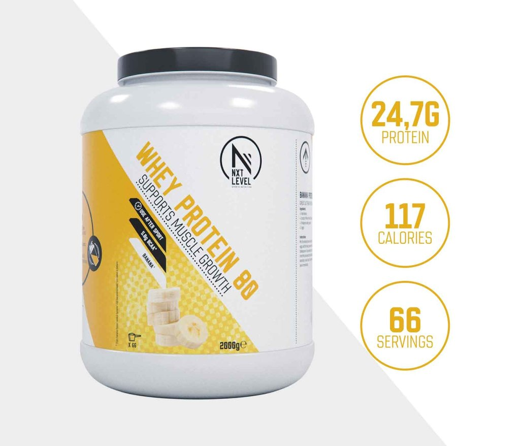 Whey Protein 80 - Banaan - 2kg