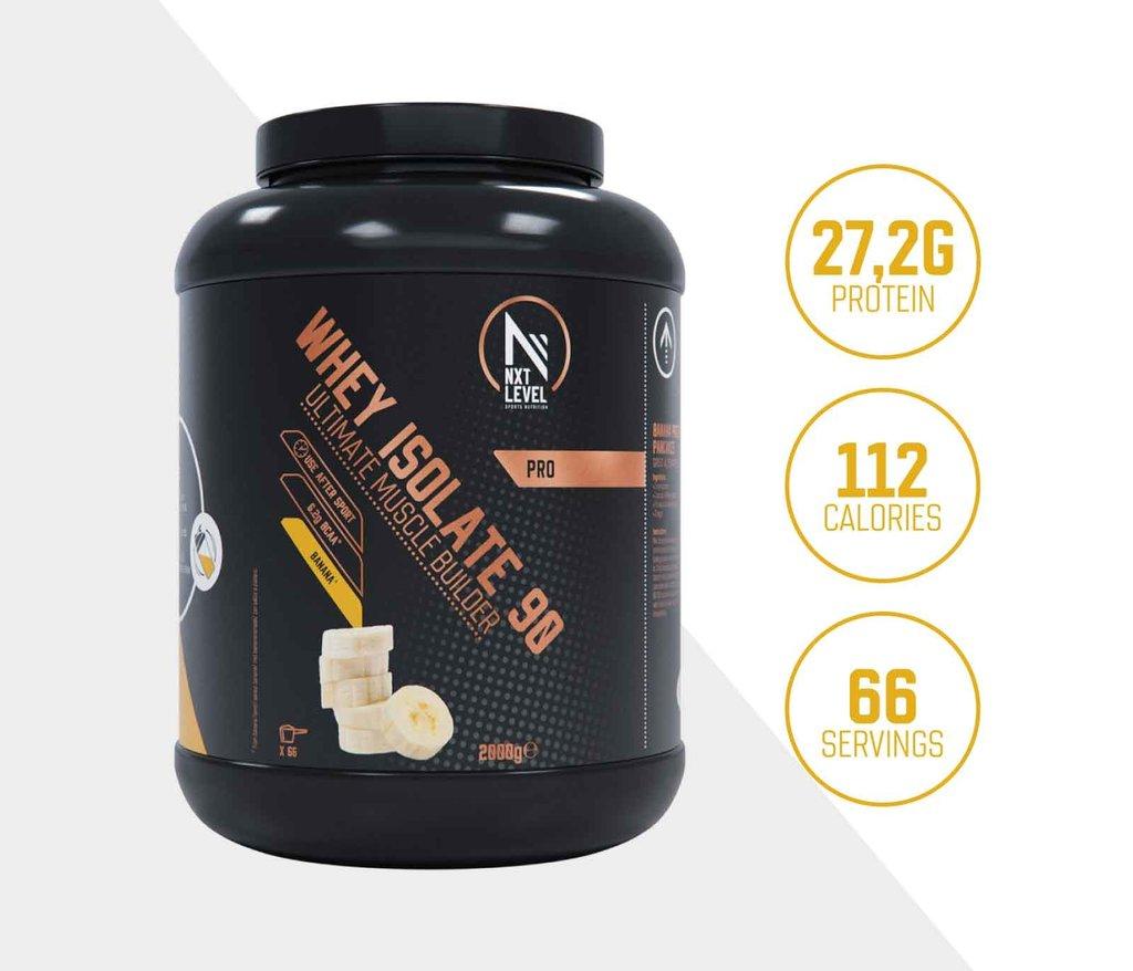 Whey Isolate 90 - Banaan - 2kg