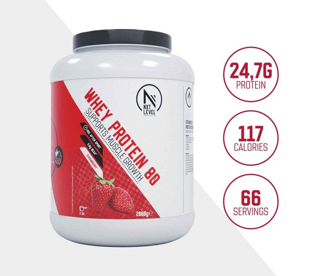 Whey Protein 80 - Fraise - 2kg