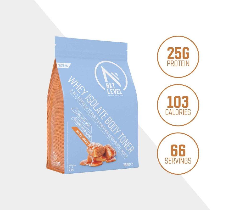 Whey Isolate Body Toner - Caramel Sea Salt - 750g_