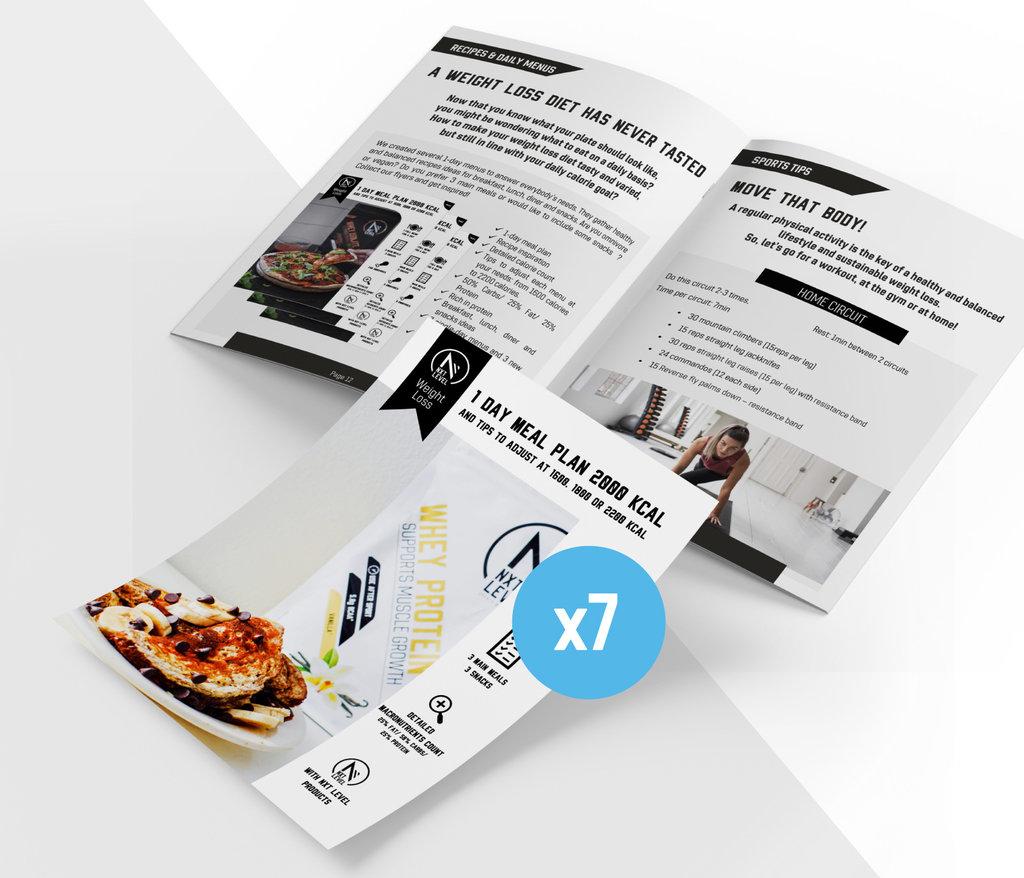 Pack Pérdida de Peso + Folletos y Menús Gratuitos