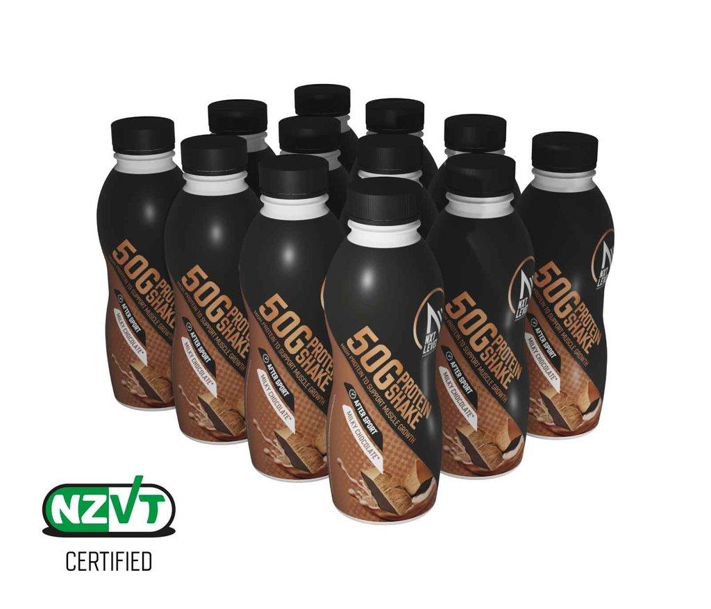 50G Protein Shake 500ml - Chocolat au lait (12 pcs)