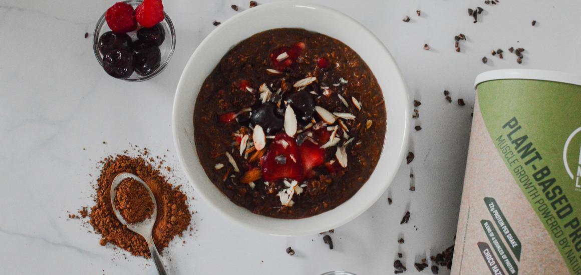 High Protein Chocolate Porridge (plant-based)