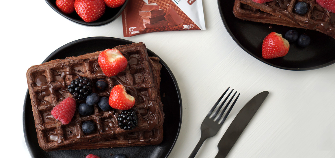 Gaufres au chocolat protéinées