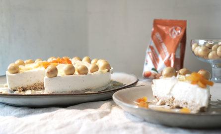Tarte petit-déjeuner au chocolat blanc et billes croustillantes protéinées
