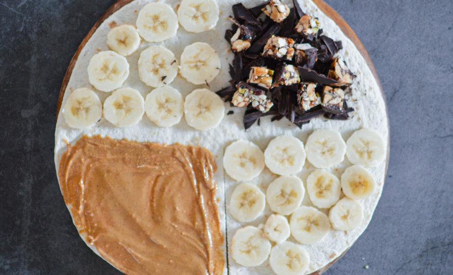 Wrap au beurre de cacahuète et banane