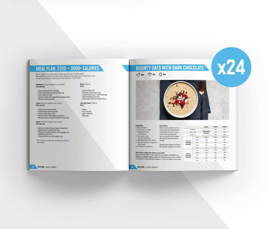 Pack Crecimiento Muscular Definitivo + Free Guide and Menus