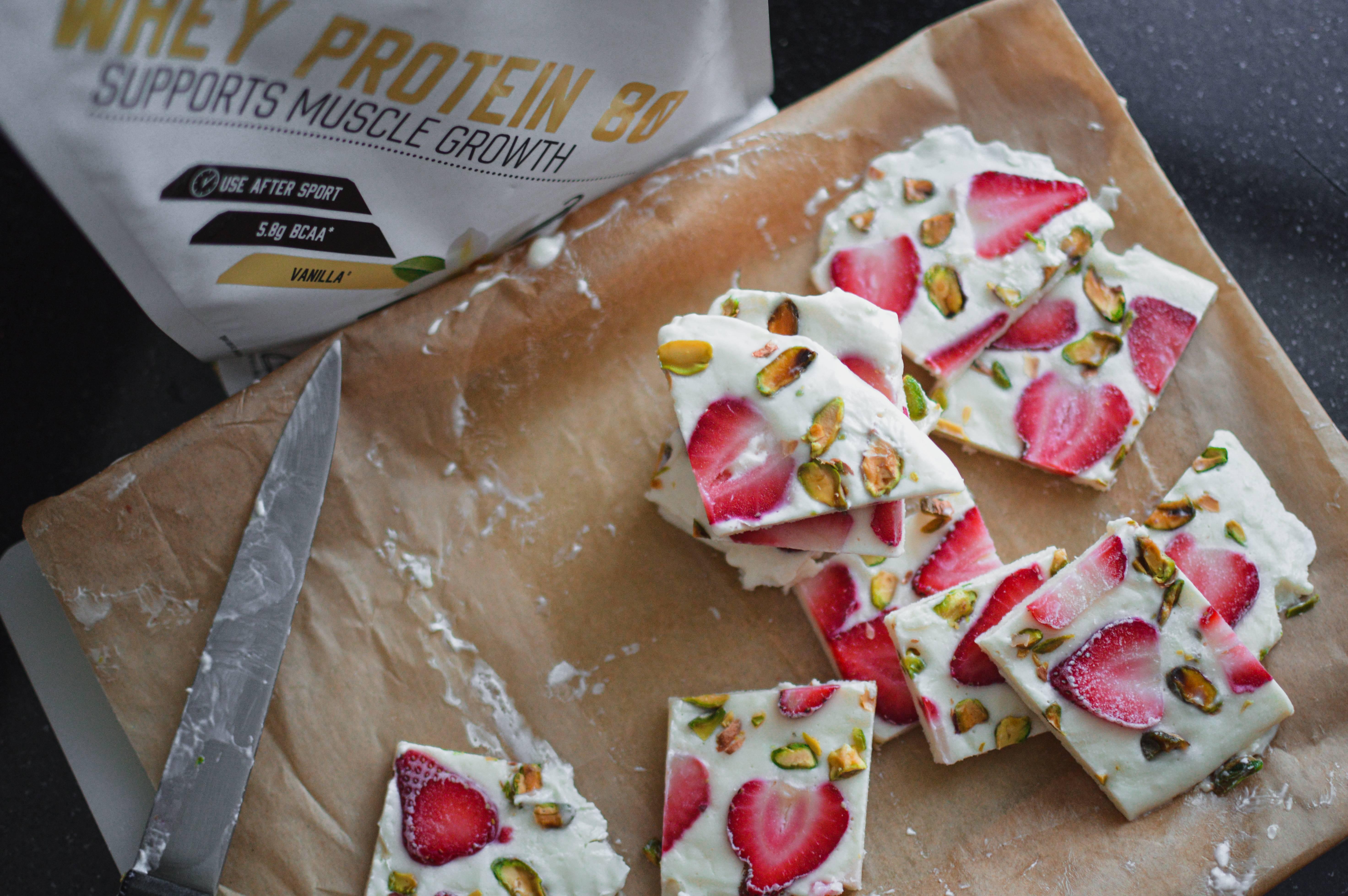 High Protein Yoghurt Bark