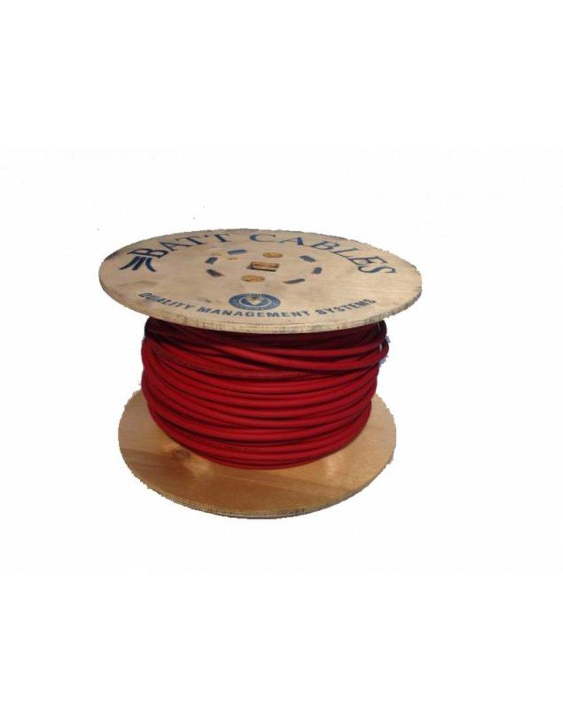 Batt Cables H1Z2Z2-K Solar TUV 1 x 4 / 1 x 6 mm2 ROOD Dca-S2,D2 - diverse lengtes