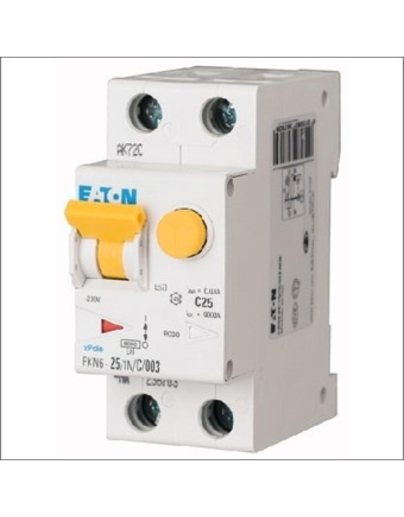 Eaton Aardlekautomaat B-karakteristiek 25A