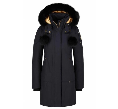 Moose Knuckles Moose Knuckles Governor Lake parka met bollen blauw-zwart