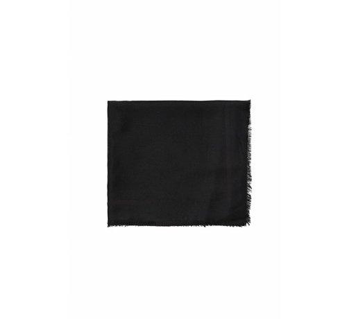2. ELISABETTA FRANCHI Elisabetta Franchi sjaal met logo Zwart