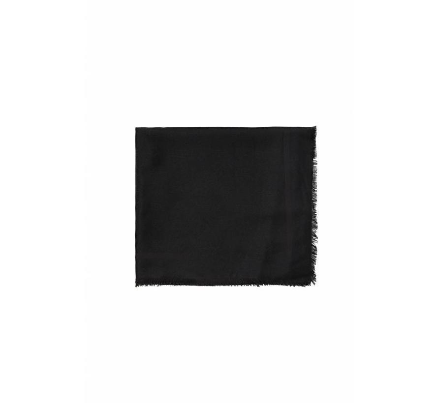 Elisabetta Franchi sjaal met logo Zwart