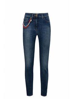Elisabetta Franchi Elisabetta Franchi skinny jeans met ketting Blauw