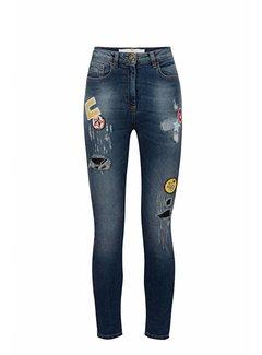 Elisabetta Franchi Elisabetta Franchi skinny jeans met patches Blauw