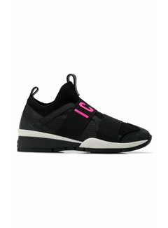 Dsquared2 Dsquared2 sneaker met icon zwart neon roze