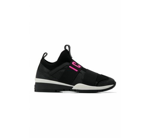 1. DSQUARED2 Dsquared2 sneaker met icon zwart neon roze