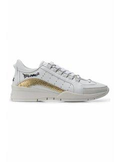 Dsquared2 Dsquared2 sneaker met gouden boog in croco