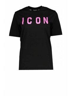 1. DSQUARED2 Dsquared2 icon shirt zwart-roze